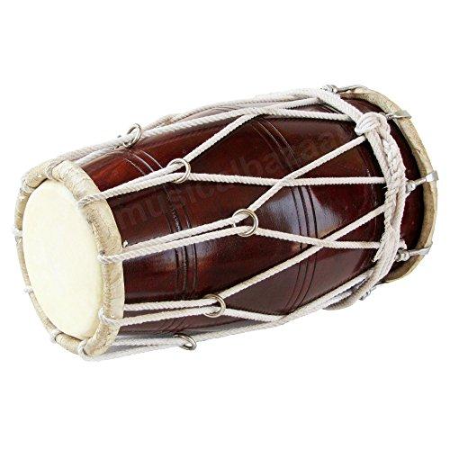 Dholak/ Dholki, Maharaja Musicals, Sheesham Wood Dholak, with Bag, Tuning Spanner (PDI-BBC)