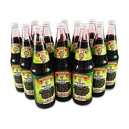 flaschen verschicken Aronia-Direktsaft von der Spreewaldmosterei 12er Pack (12 Flaschen à 0.7 l)