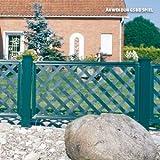Videx-Kunststoffzaun Oxford Classic, 65 x 125cm, grün