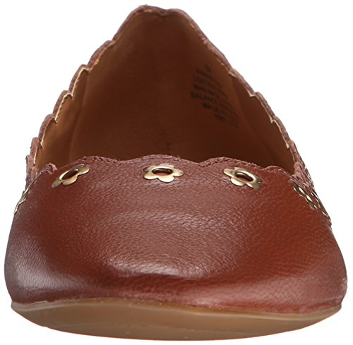 Nine West mintchip Leather Ballet Flat Dark Natural