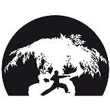 Wadeco Karate 2 Wandtattoo Wandsticker Wandaufkleber 35 Farben verschiedene Größen, 120cm x 90cm, flieder