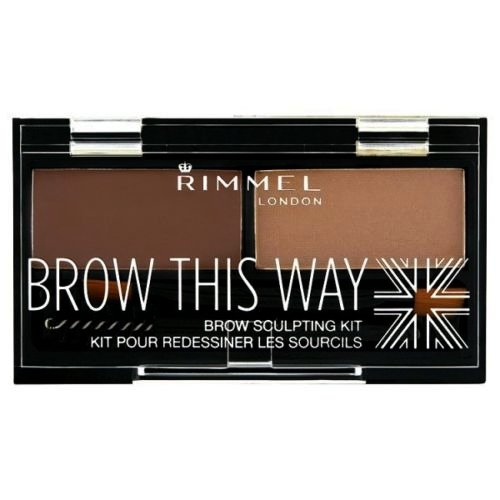 (3 Pack) RIMMEL LONDON Brow This Way Brow Sculpting Kit Medium Brown