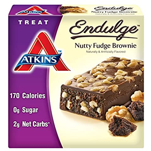 Atkins Endulge Bars Nutty Fudge Brownie, Nutty Fudge Brownie 5/7.1 Oz
