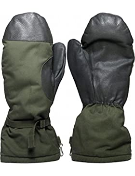 Ejército Alemán Número Goretex Con Forro De Piel Artificial Snow Guantes,Sobre Guantes - Gris, Large
