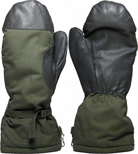 Militärhandschuhe aus GoreTex, gefüttert mit Kunstfell, Schneehandschuhe, Überhandschuhe Größe L grau