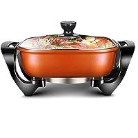 FUDIV Électrodomestiques Wok multi-fonction électrique Hot Pot Cuisinière électrique multi-usages Pot petit feu, la…