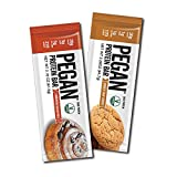 Pegan® Protein Bars (20g Organic Plant Protein ) 12 Bars (2 Flavors) (Gluten Free) (Low Net Carbs)