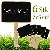 matches21 Kleine Kreidetäfelchen m. Stiel Kreide Tafeln 7x5 cm 6 Stk. zum Beschriften von Küchenkräutern, Blumen und Pflanzen etc.