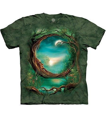 The Mountain Unisex Erwachsen Gr. 3XL Mondbaum T Shirt