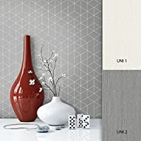 4993c692428814 NEWROOM Tapete Grau Geometrisch Muster Grafik Vliestapete Vlies moderne  Design Optik Grafiktapete Skandinavisch inkl. Tapezier