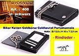Biker portefeuille neuf b408 kettenbörse 13 cm avec chaîne porte-monnaie en cuir de vachette branco
