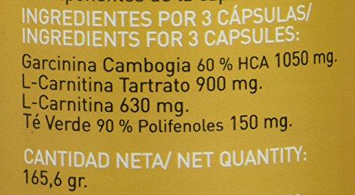 51WtCnzSP%2BL - Garcinia cambogia con L-carnitina y té verde para reducir el apetito y acelerar el metabolismo LINEA COMPLEX 180 capsulas - suplemento alimenticio con potentes propiedades adelgazantes