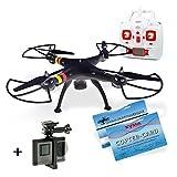 SYMA X8C + DS24 GoPro Halterung Aluminium schwarz - Quadrocopter Venture Drohne schwarz Copter Card