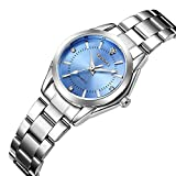 Women Watches Casual Fashion Waterproof Watches Diamond Rhinestone Wrist Quartz Watch - Light Blue