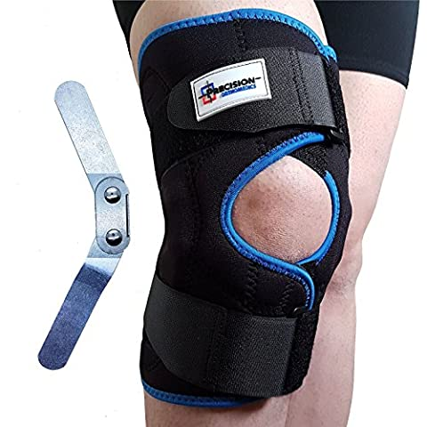 Adjustable Neoprene Hinged Patella Knee Arthritis Support Brace Guard Stabilizer Strap Wrap (Medium (44-48 cm))