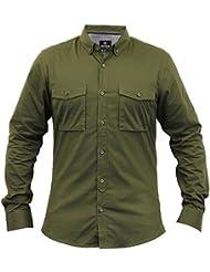 Formel Pour Hommes T-shirt Threadbare Travail Col Chemise Manche Longue Mode Décontractée Neuf