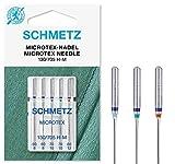 SCHMETZ Nähmaschinennadeln 5 Microtex-Nadeln | 130/705 H-M | Nadeldicken:...
