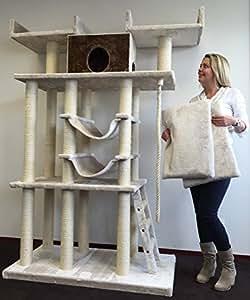 kratzbaum f r gro e katzen xxl cat temple elite plus creme katzen kratzbaum speziell f r gro e. Black Bedroom Furniture Sets. Home Design Ideas