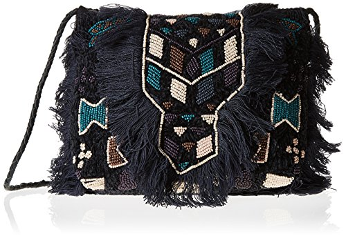 Antik Batik Cody 1P, Borsa a spalla donna, nero (nero), Taglia unica