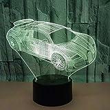 Generic 3D Nachtlicht Nachtlicht 3D Nachtlicht Nachtlampe Business Car Remote Touch TableLiving Room Schreibtisch