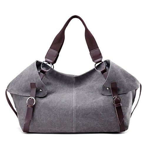 Leinenbeutel Schulterbeutel Kurierbeutel Einfach Lässig Big Bags Adrett Handtasche Persönlichkeit Gürtel Mit Hohen Kapazität Tasche FashionGray