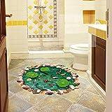 Abnehmbare Boden Ponds Farbe Stickers Schlafzimmer Wohnzimmer Wandsticker