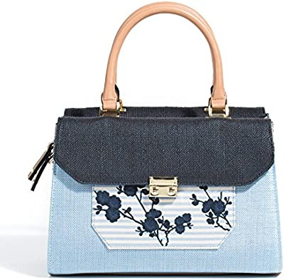 Parfois - Bolsos Plastico/Palha Maleta Pequena Azul Marino - Mujeres
