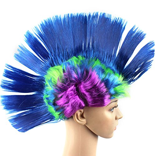 Low Cost Colourful Mohawk Wig - 5 Colours