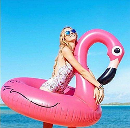Riesen Aufblasbare Flamingos Schwimmring Float Raft Große Outdoor Wasser Party Lounge Spielzeug Für Erwachsene & Kinder mit Rosa (Float Only)