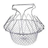 Windy5 Edelstahl Erweiterbare Faltbare Fry Basket Fry Siebeinsatz Sieb Net Fry Basket-Küche-Werkzeug