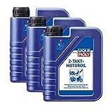 3x LIQUI MOLY 1052 2-Takt-Motoroil selbstmischend Rasenmäher Motorsäge Öl 1L