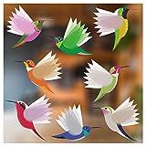 Stickers4 Vogel-Fensteraufkleber zum Schutz gegen Vogelschlag - Acht Große...