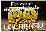 WB wohn trends Puzzle-Botschaft Eckig ~ Für Meinen Aller-Besten Nachbarn ~ 120 Teile 27x18cm inkl. Geschenk-Beutel