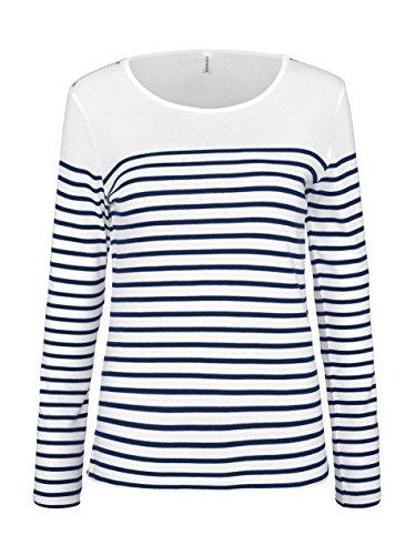 KARIBAN - Marinière - t-shirt manches longues- K386 - Femme (XL)