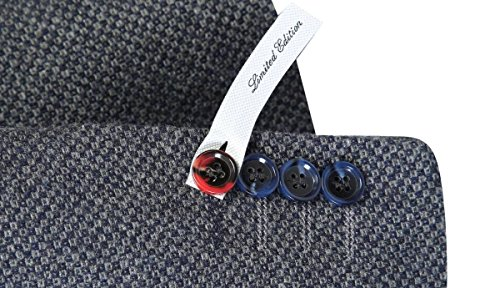 SMC by SEMCO Herren Premium Woll Sakko CKT-6058 - Slim Fit Grau