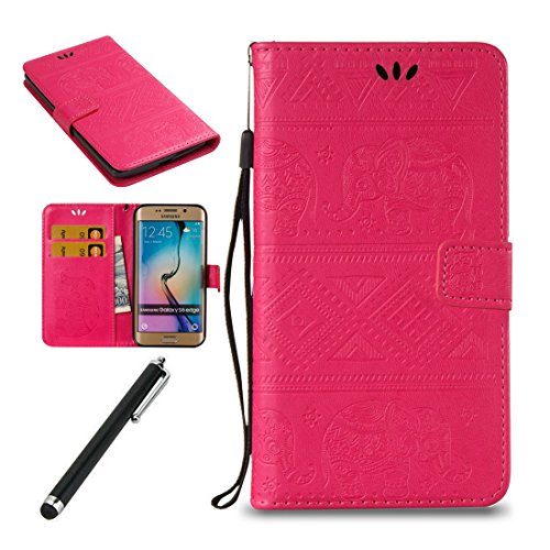 Samsung-Galaxy-S7-Edge-Flip-CaseSamsung-Galaxy-S7-Edge-Wallet-CaseBeddouuk-Elegant-Elephant-PU-Leather-Wallet-Case-with-Card-Slot-Kickstand-and-Magnetic-ClipBook-Style-Design-Protective-Folder-Case-Co