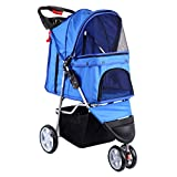 Best Pet Stroller 3 Wheels - Paneltech Pet Travel Stroller Foldable Cat Dog Pushchair Review