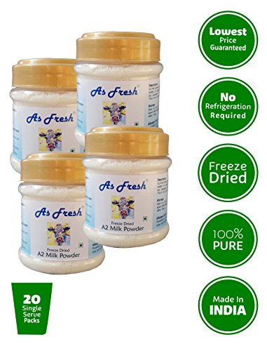 As Fresh Freeze Dried A2 Cow Milk Powder 4x100g (All Natural,100% Pure,)