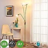 Lampenwelt LED Stehlampe 'Felicia' dimmbar (Modern) in Gold/Messing aus Metall u.a. für Wohnzimmer & Esszimmer (3 flammig, A+, inkl. Leuchtmittel) - Wohnzimmerlampe, Stehleuchte, Floor Lamp