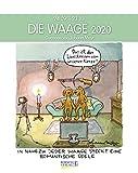 Waage 2020: Sternzeichenkalender-Cartoonkalender als Wandkalender im Format 19 x 24 cm. -