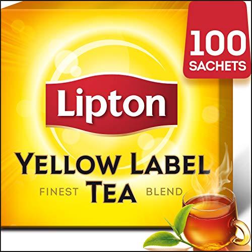 Lipton Yellow Label Schwarzer Tee,  100 Teebeutel mit Doppelkammer, 1er Pack (1 x 200 g) - Lipton 100 Teebeutel