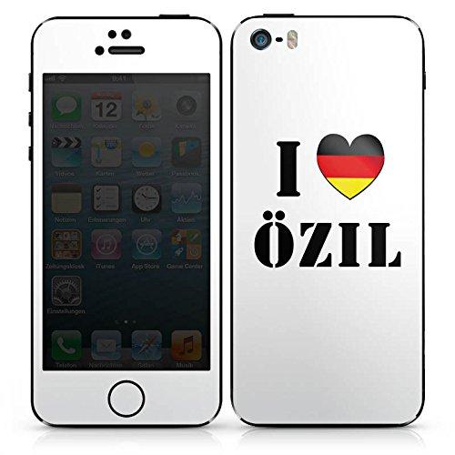 Apple iPhone 4s Case Skin Sticker aus Vinyl-Folie Aufkleber Mesut Özil Fußball Deutschland DesignSkins® glänzend