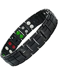 MPS® EUROPE Bio 5 in 1 Elements Black Titanium Magnetic Bracelet + FREE Gift Wallet + FREE Links Removal Tool