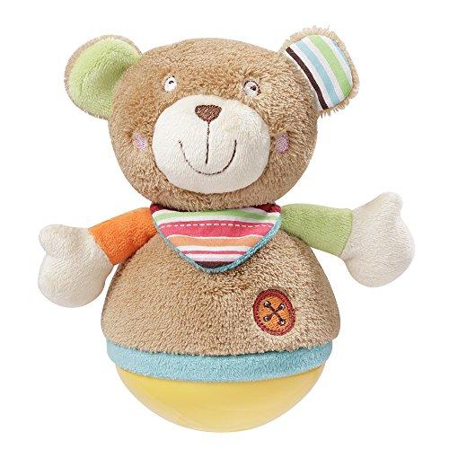 Fehn 091120 Stehauf Teddy, Oskar, mehrfarbig