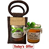 Farm Naturelle-Aesthetically Designed Jute Gift Bag With Pure Raw Natural Unheated Unprocessed Forest Acacia Flower... - B075XDJRK5