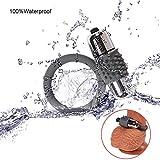 Lovefond Maschi Anello vibrante in silicone, vibrazione 10 modalità vibrazione wireless impermeabile al 100% JIELUO (viola)