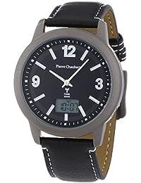Pierre Chaubert 43702 - Reloj de pulsera hombre, piel, color negro