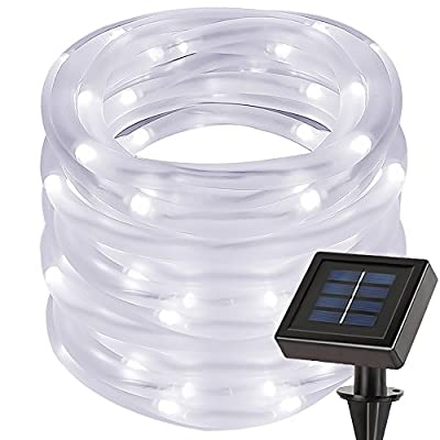 LE 100 LEDs Solar Rope Lights, 10M Waterproof Outdoor Path Lights, LED String Light with Light Sensor, Christmas Wedding Party Garden Decorative Lighting from Lighting EVER