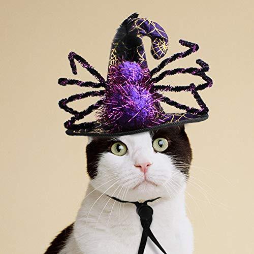 Haustier Halloween Hexe Magier Hut Hund Katze Komisch Spinne Hut Kopfbedeckungen Kostüm Für Party, Fotoshooting. Cacoffiny