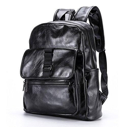Maschile doppia borsa a tracolla/ borsa in pelle/Zaino di moda coreana uomo/Borse da viaggio per il tempo libero/Borsa porta computer-A